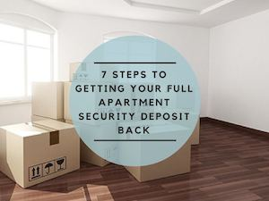 Get Your Apartment Security Deposit Back