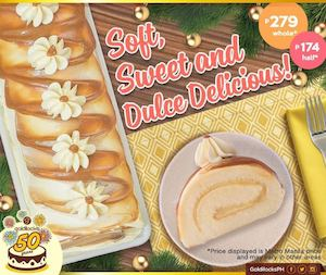 Continue The Holiday Celebration On A Happy Note With The Dulde De Leche Cake From Goldilocks 88558