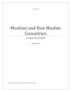 Muslims And Non Muslim Countries Copy