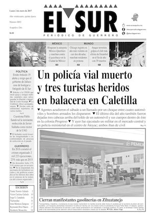 Calaméo - El Sur Lunes 02012017