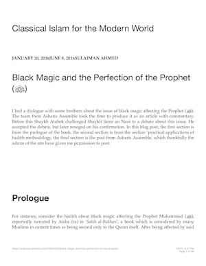 Calaméo - Black Magic And The Perfection Of The Prophet (ﷺ