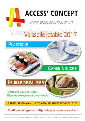 Catalogue Vaisselle jetable 2017 - Access' Concept
