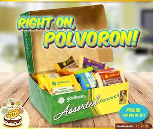 Take Home A Box Of Assorted Polvoron For P198 Only From Goldilocks 88898