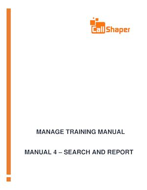 Outbound Software Manual 4 Search And Report