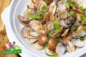 Enjoy The Best Seafood Dining Experience With Clams In Butter Garlic Wine At Seafood Island 88954