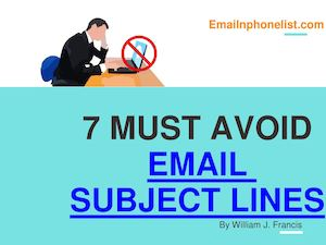 Must Avoid This 7 Email Marketing Subject Lines
