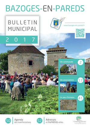 Bulletin municipal 2017 - Bazoges En Pareds