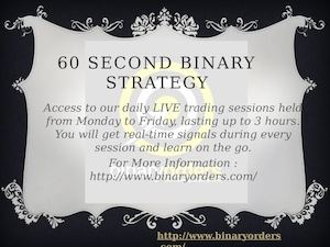 60 Second Binary Strategy