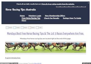 Mondays January 23rd Free Horse Racing Tips Information