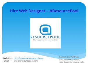 Hire Web Designer – Aresource Pool