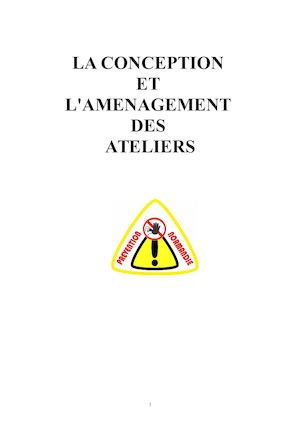CONCEPTION ET AMMENAGEMENT ATELIER