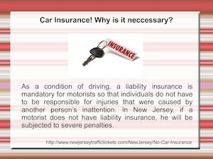 No Car Insurance In New Jersey