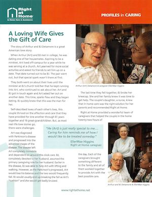 Right at Home of Greater Fairfield County (RAHFFC) Profiles In Caring Loving Wife 2013