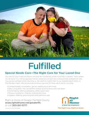 Right at Home of Greater Fairfield County (RAHFFC) Special Needs Flyer Email