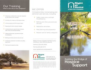 Right at Home of Greater Fairfield County (RAHFFC) Hospice Brochure 01 23 17