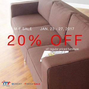 Get 20 Off On Selected Local Imported Furnitures With Mandaue Foams M F Sale Until Jan 27 2017 89165
