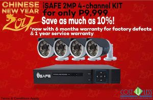 Get This Isafe 2mp 4 Channel Kit For Only P9999 From Cost U Less Valid Until January 31 2017 89174