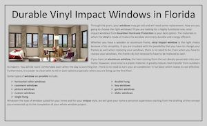 Durable Vinyl Impact Windows In Florida