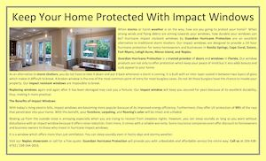 Keep Your Home Protected With Impact Windows