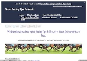 Wednesdays January 25th Free Horse Racing Tips