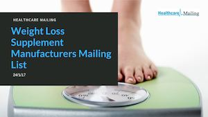 Weight Loss Supplement Manufacturers Mailing List