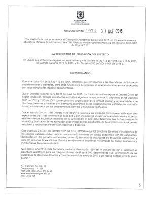 Calendario 1974.Calameo Resolucion N 1974 Calendario Academico 2017