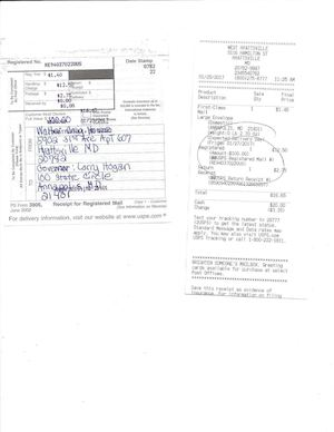 Statutory Declaration Register Mail Receipt