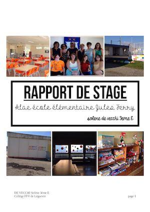 Calameo Rapport De Stage