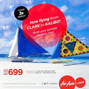 Enjoy The Lowest Fares From Clark To Kalibo With Air Asia Book Until February 5 2017 89411