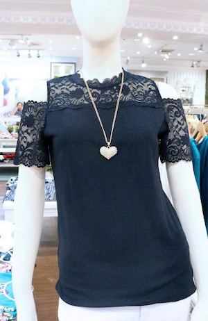 This Gorgeous Cold Shoulder Lace Blouse Is Available At Kamiseta 89413