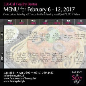 Order Your 350 Cal Healthy Bentos For Next Week From The Sexy Chef Until February 5 2017 89416