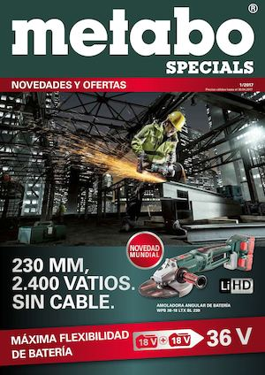 Herramientas Metabo Specials 2017 W1 Folleto Hasta 30 De Abril 2017