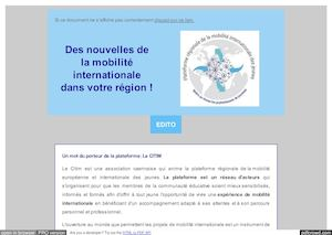 Newsletter 1 - Avril 2016