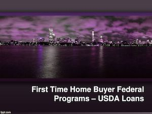 First Time Home Buyer Federal USDA Loans Programs