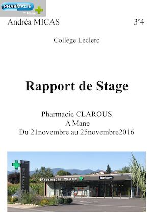 Exemple d'introduction de rapport de stage 2nde