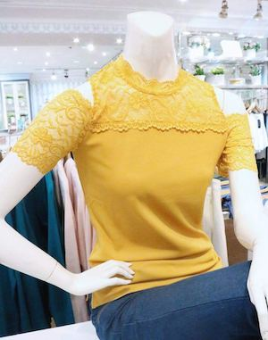 Shop This Beautiful Yellow Lace Top Now In All Kamiseta Stores Nationwide 89450