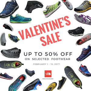 Get Up To 50 Off On Selected Footwears At The North Faces Valentines Sale Until Feb 15 2017 89451