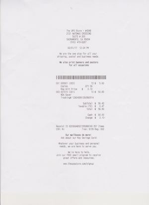 Receipt of Mailing to Olivia Reyes/Breckenridge Properties Fund 2016, LLC