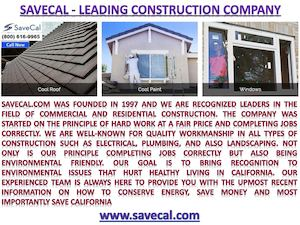 Savecal.com Construction Company For Any Type Of Repairs And Energy Efficiency