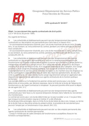 (02 2017) In Fo Syndicale Gdspfo91