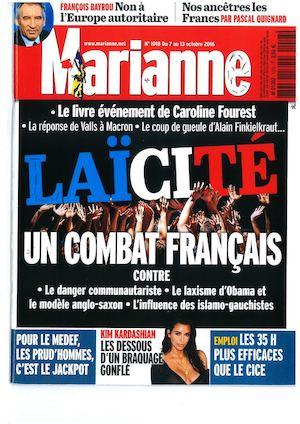 Calaméo Laïcité N 1018 Page De Garde Marianne Du 7 Au 13102016