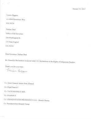 Louise Biggers Statutory Declaration with Supporting Documents