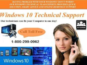 Windows 10 Technical Support Number 1 800 299 0962