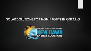 Solar Solutions For Non Profits In Ontario