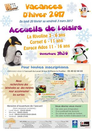 Vacance Hiver 2017