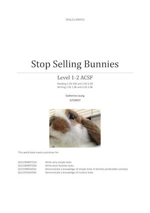 Level 1 2 Stop Selling Rabbits