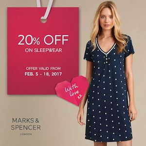 Enjoy 20 Off On Womens Sleepwear At Marks Spencer Until February 18 2017 89501