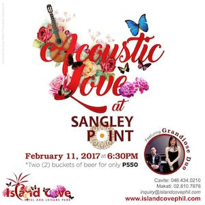 Enjoy Acoustic Love At Sangley Point Island Cove On February 11 2017 89504