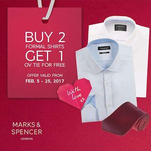 Buy 2 Formal Shirts Get 1 Free Ov Tie At Marks Spencer Until February 25 2017 89505