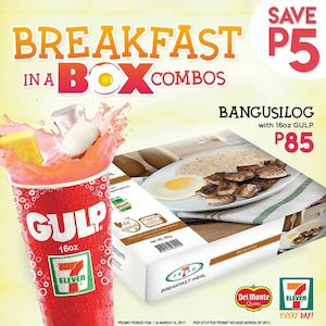 Get P5 Off When You Buy The 7 Fresh Breakfast Meals At 7 Eleven Until March 14 2017 89508